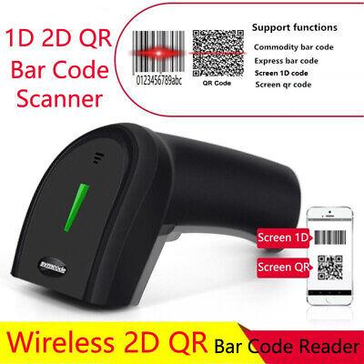 Symcode Handheld 2.4ghz Wireless Barcode Scanner 1d 2d Qr Laser Bar Code Reader