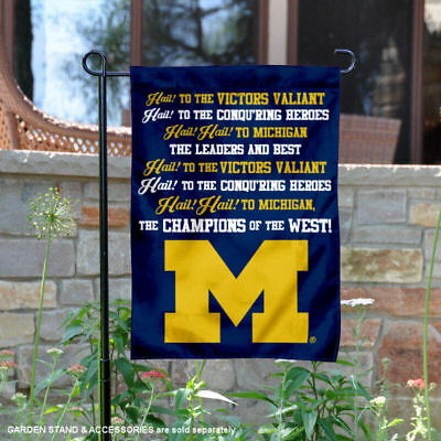 Michigan Wolverines Fight Song Garden Flag and Yard Banner