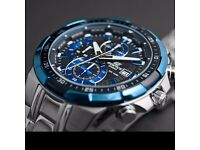 !!! Casio Edifice Blue Silver Chronograph Watch want to SWAP to G-shock !!!