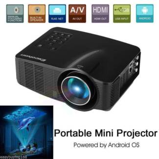 1500 lumens Wifi LED Projector Android system Home Theater NEW