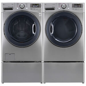 """LG WM3770HVA 27"""" Front Load Washer With 5.2 cu.ft. and Dryer"""
