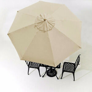 Patio Umbrella 10 ft cover replacement - 8 ribs BEIGE