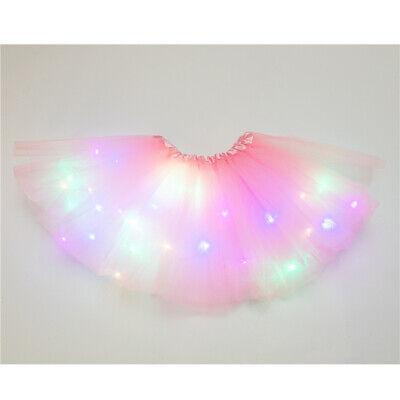 Leuchtend Licht LED Erwachsene Tüll Tutu Rock Party Kostüm Ballett Tanz Tragen