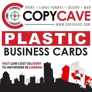 PLASTIC BUSINESS CARDS - 20% OFF SALE - Opaque, Frosted Semi-Transparent, or Clear | Starting at $124.80 for 500