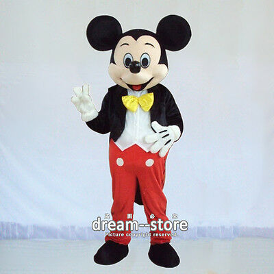 【TOP QUALITY】  MICKEY MOUSE MASCOT COSTUME ADULT SIZE HALLOWEEN DRESS EPE HEAD - Adult Mickey Mouse Halloween Costume