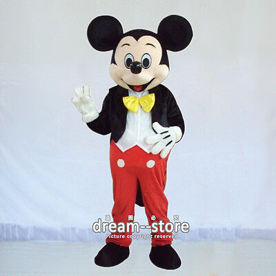 【TOP QUALITY】  MICKEY MOUSE MASCOT COSTUME ADULT SIZE HALLOWEEN DRESS EPE HEAD](Mouse Costum)