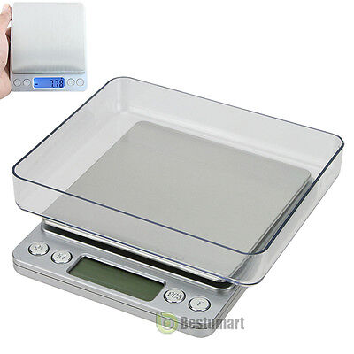 0.1gram precision jewelry electronic digital balance weight pocket scale 2000g