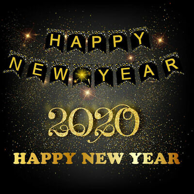 New Years Parties (2020 Home Party Christmas Happy Banner New Year's Eve Party Banner)