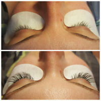 Certified lash stylist offering natural lash extensions