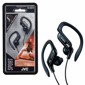 GENUINE NEW in open BOX JVC HAEB80B Sports Clip Headphone with Adjustable Clip For Smartphones