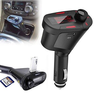 LCD Car Wireless FM Transmitter Modulator Radio Audio MP3 Player USB SD Red IF
