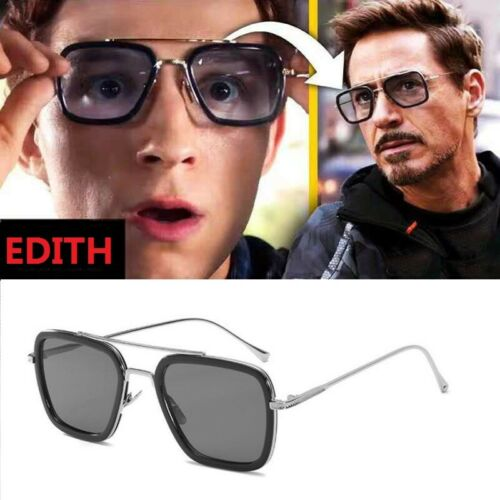 Iron man Sunglasses Peter Parker Spiderman Far From Home Tony Stark Edith Glass Clothing, Shoes & Accessories