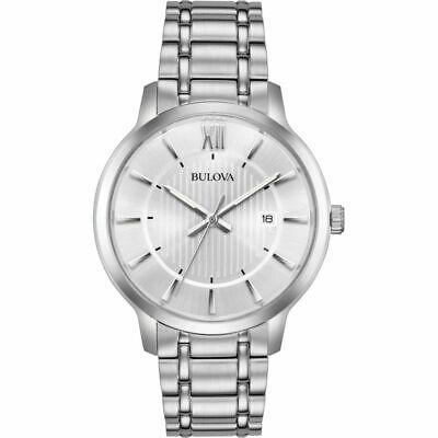 Bulova Men's Quartz Stainless Steel Silver Tone 40mm Watch 96B279