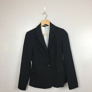 EXPRESS Womens Black Single Button Career Blazer Jacket - SIZE 4