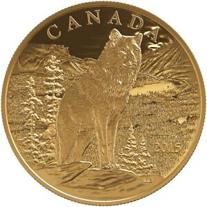 1.1253 oz 2015 Proof Canadian Imposing Alpha Wolf $350