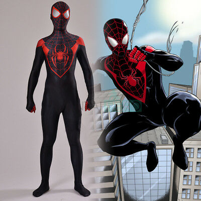 Amazing Spider-man Costume Miles Morales Ultimate Spiderman Suit Cosplay Costume
