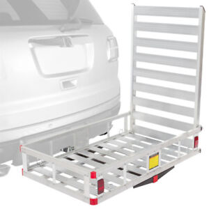 Aluminum Cargo Carrier - Trailer Hitch with Ramp
