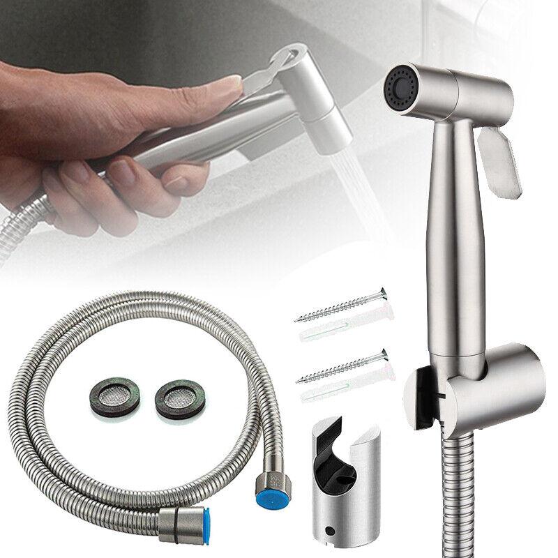 Brausekopf mit Halter Edelstahl WC Hand Duschkopf Dusche Bad Set