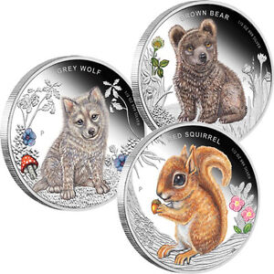 Australian Forest Babies - Set of 3 Coloured Proof Coins