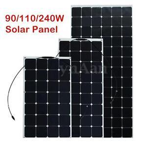 90W-110W-240W-Mono-Semi-Flexible-Solar-Panel-Camper-Motorhome-Boat-Set-RVVZ-PWM