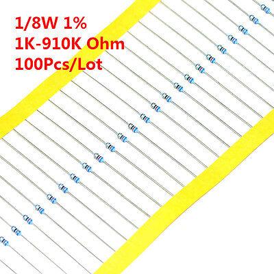 100pcs 18w 18 W Metal Film Resistor 1 1k -910k Ohm 1 K - 910 K
