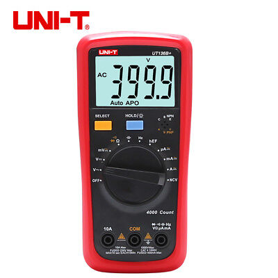 Uni-t Ut136b Handheld Auto-range Digital Multimeter Acdc 1000v 10a Ohm Cap Tes