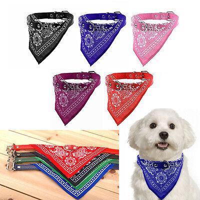 - Adjustable Pet Bandana Collar Puppy Dog Cat Neck Scarf Neckerchief Nylon New