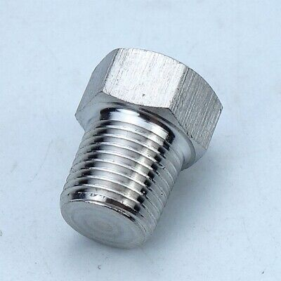 5pcs Stainless Steel 304 Pipe Fitting Plug 18 Mip Npt Male