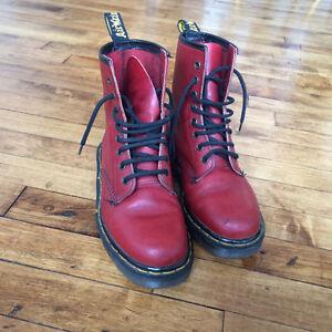 Bottes Dr. Martens rouge - Très bon état - Taille 5