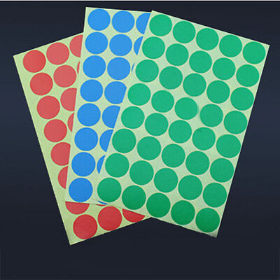 200pcs 25mm Color Code Circle Sticky Labels Dot Stickers Tags Self Adhesive