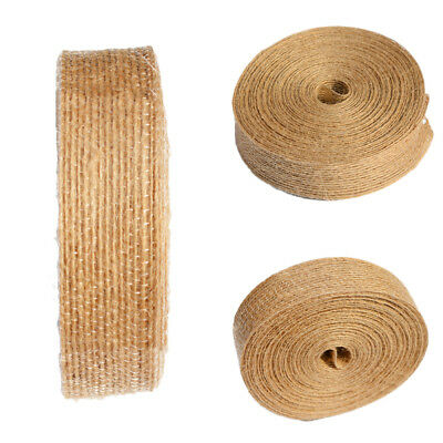Hessian Burlap Ribbon Lace Trims Edge Natural Jute Tape Wedding-Party Supply