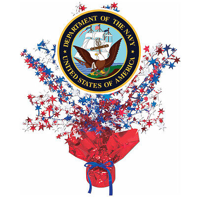 US Navy Party Supplies RED, WHITE, BLUE CLASSIC EAGLE CENTERPIECE DECORATION (Red White Blue Centerpieces)