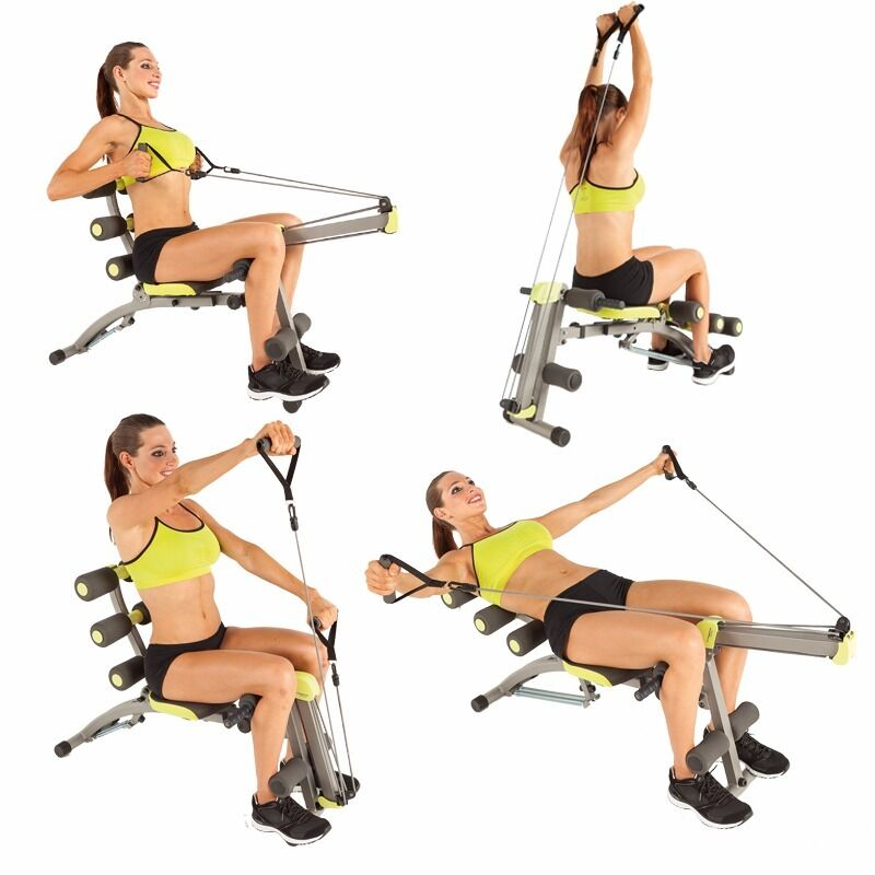 home multi gym 6 in 1 wonder core 2 like new with dvd. Black Bedroom Furniture Sets. Home Design Ideas