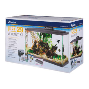 Aqueon LED 29 fish tank kit including stand NEW