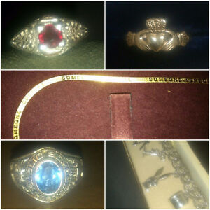 FINE JEWELRY LOT-RUBY/GOLD/CHAIN/RINGS $2000+ VALUE