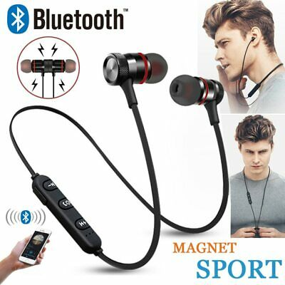 Bluetooth Wireless Headphones Magnetic Sports Gym Running Waterproof Earphones