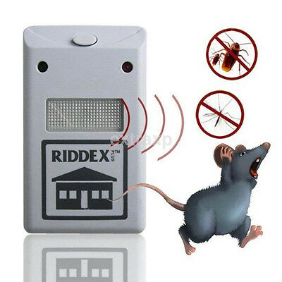 EU/US Electronic Ultrasonic Mouse Bug Cockroach Repeller Reject Pest Control US
