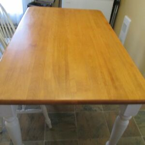 Solid Wood dining table set with four chairs