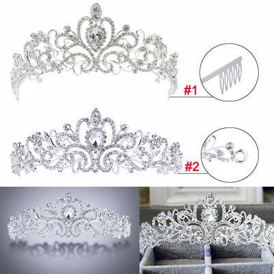 Rhinestone Kids Girl Crystal Tiara Hair Band Bridal Princess Prom Crown - Child Tiara