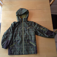 Kids youth jacket fall winter lined monster Costco size 8 green