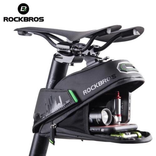 ROCKBROS Cycling Bike Tail Bag Rainproof MTB Bike Safty Refletive Saddl Bag US