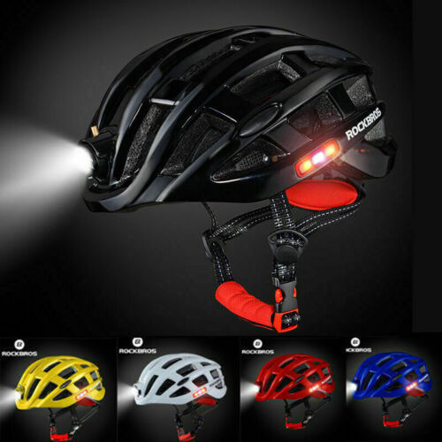 RockBros Outdoor Sport Cycling Bike Helmet USB Rechargeable Light Size 57-62cm