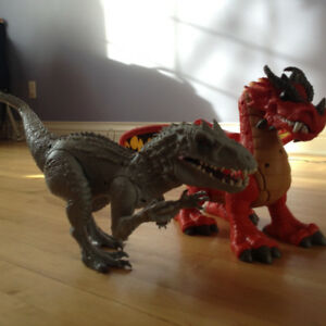 toy DINOSAUR & DRAGON (like new. fully functional)