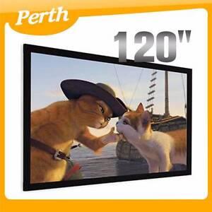 "120"" TV Cinema HD Projector Screen Flat Fixed Frame 16:9 WA Jandakot Cockburn Area Preview"