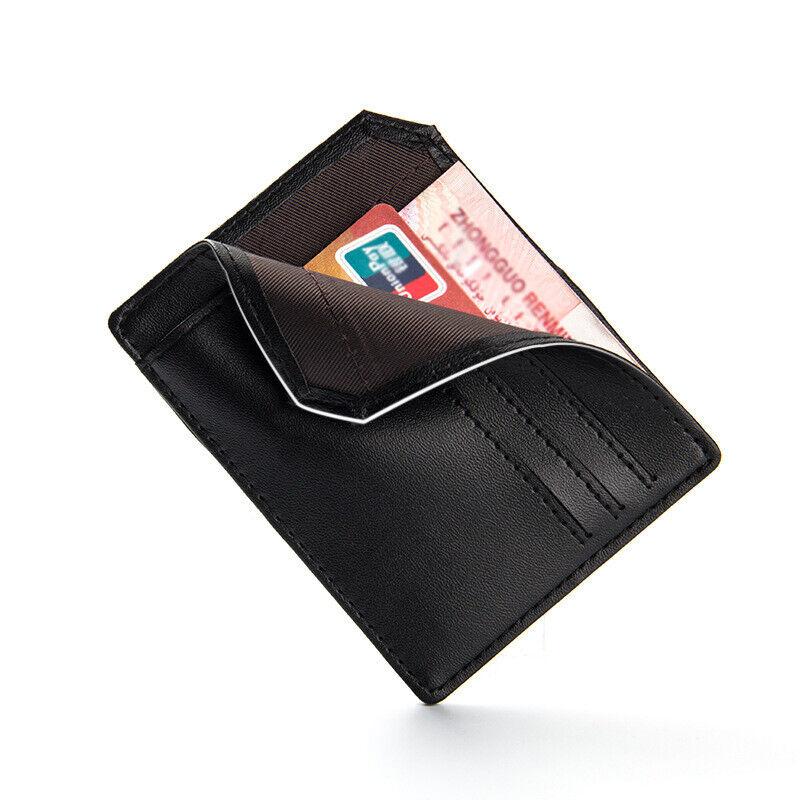 RFID Blocking Men Leather Slim Wallet Credit Card Slots Holder Front Pocket US Clothing, Shoes & Accessories