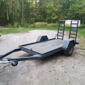 single axle equipment float trailer