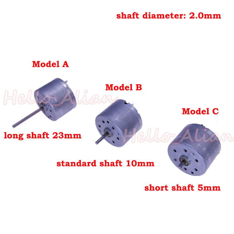 6V Mini 130 Micro DC Motor Gear Runde kleine Motor Spielzeug  Gut 3.7 12x 3