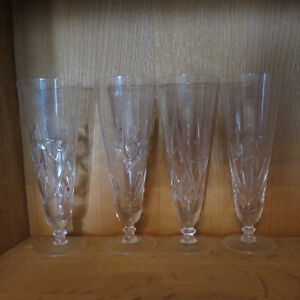 Vintage Cut Crystal Glasses Cream Sugar Pinwheel Stunning Set 18 Kitchener / Waterloo Kitchener Area image 4