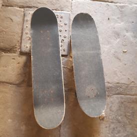 Two skateboards