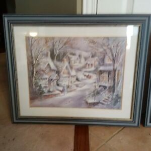 Two gorgeous winter scene prints framed and under glass! Kitchener / Waterloo Kitchener Area image 3